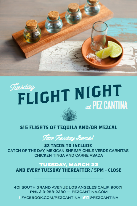 Pez Cantina Flight Night