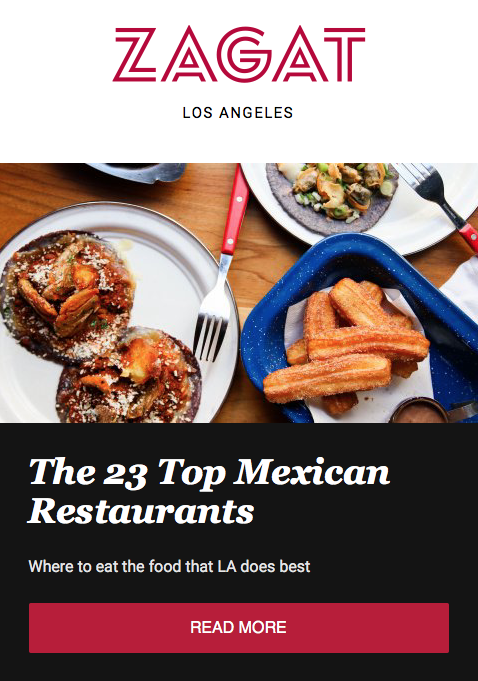 Zagat Los Angeles