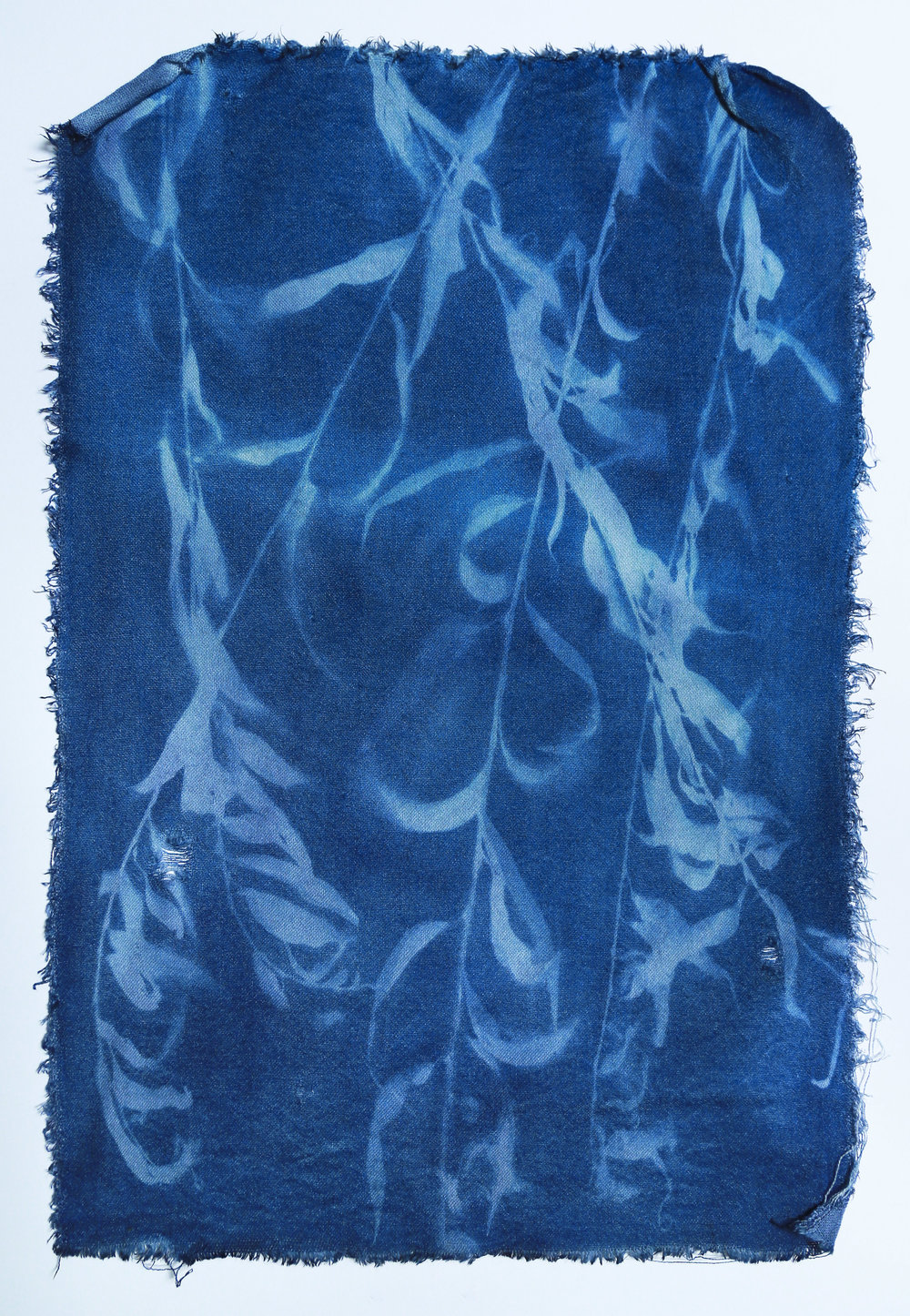 Saule pleureur on linen wool blend II