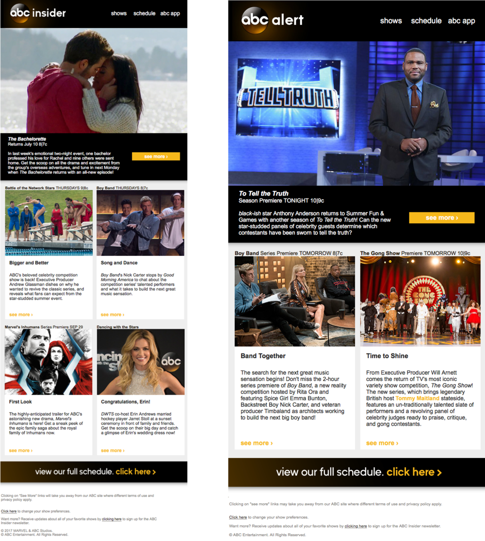 Original ABC newsletters