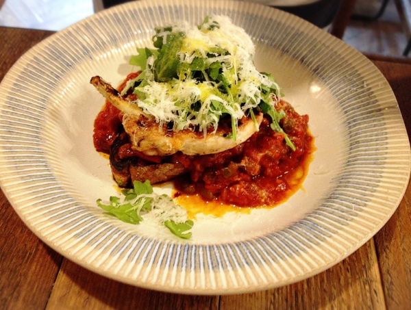 Image by  Kelly Chang , Chicken Puttanesca of Jamie's Italian