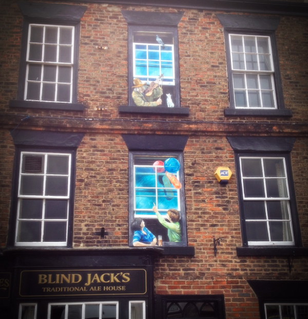 Image by  Kelly Chang , town windows in Knaresborough