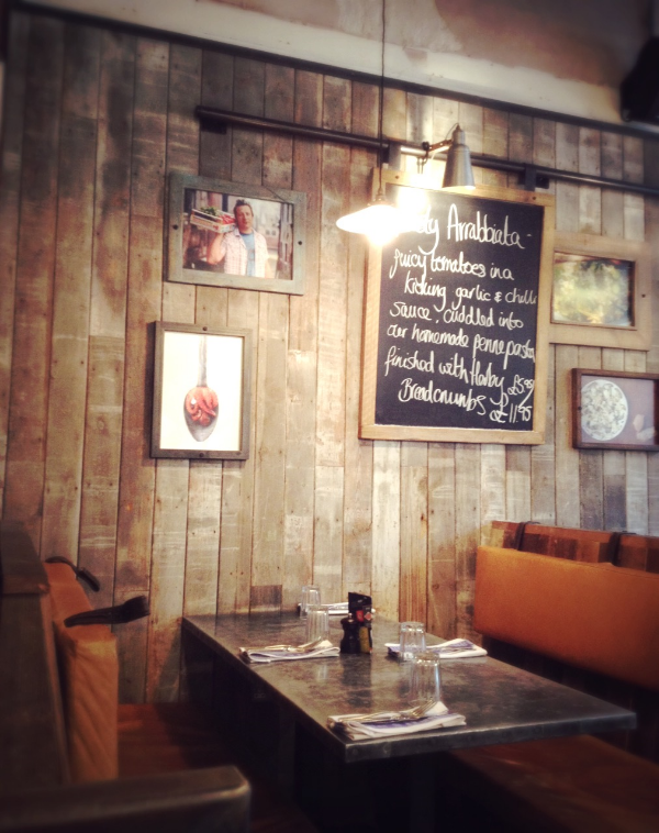 Image by  Kelly Chang , seats at Jamie's Italian