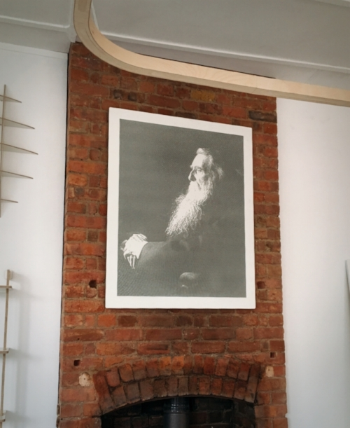 Image by  Kelly Chang , Ruskin's portrait in the shop