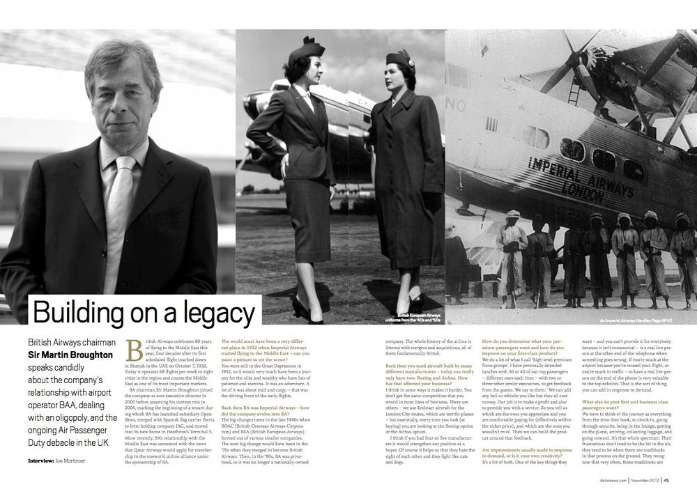 Interview with Sir Martin Broughton, chairman, British Airways