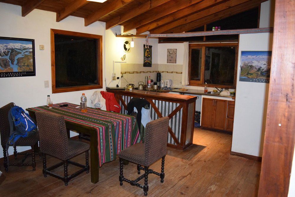 The living room at Patagonia Vieja, El Calafate
