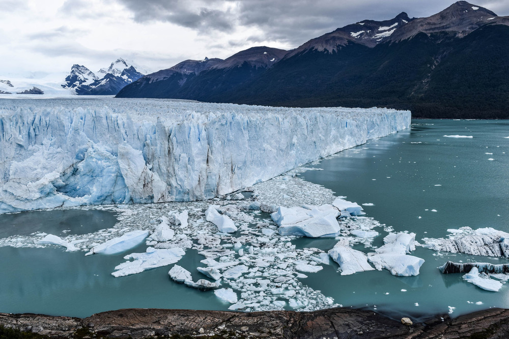 The northern face of Perito Moreno in southern Patagonia.