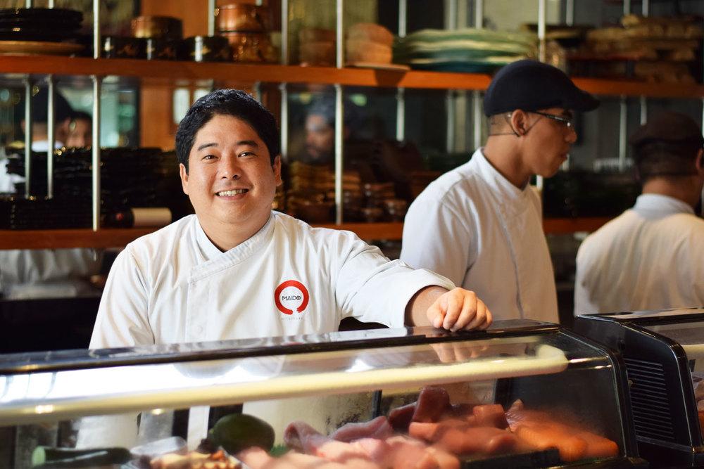 """Chef Mitsuharu """"Micha"""" Tsumura at Maido"""