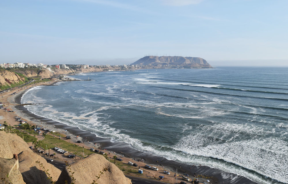 Lima's sweeping Pacific coast