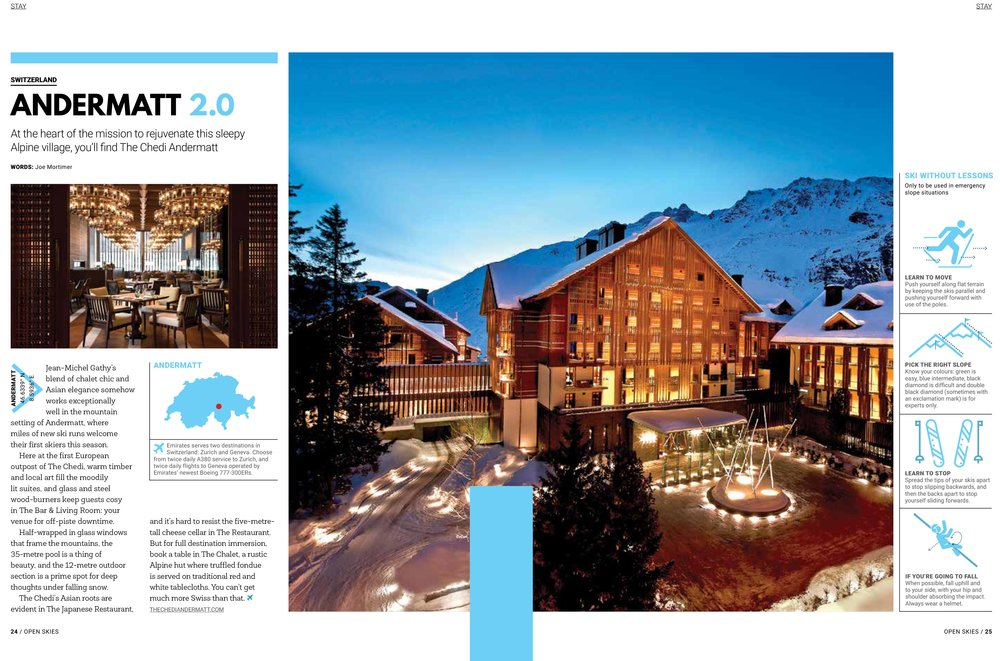 The Chedi Andermatt - Open Skies