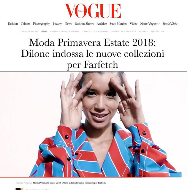 Some video work I did late last year of @_dilone for @farfetch and the amazing @markvassallo has been released and is now featuring on Farfetch and Italian vogue online.⚡️⚡️⚡️