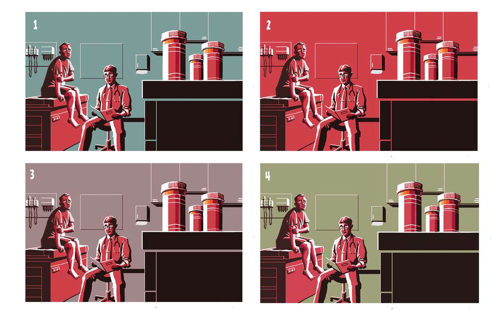 Prescription Spread color roughs