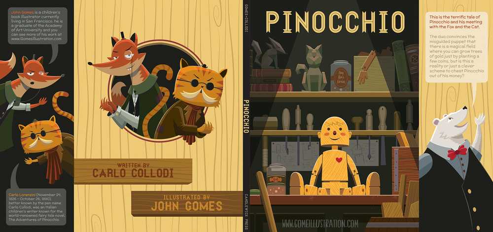 Pinocchio Book Jacket Mock Up