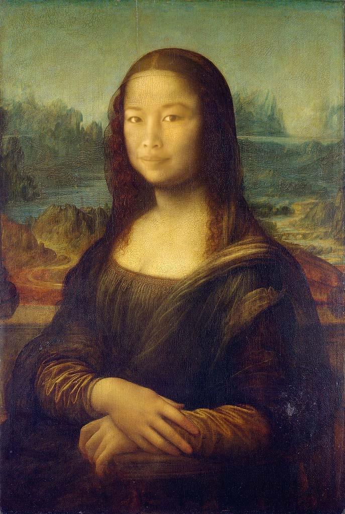 Emily as the Mona Lisa. Self-Portrait. Digital Photography. Oct 2014.