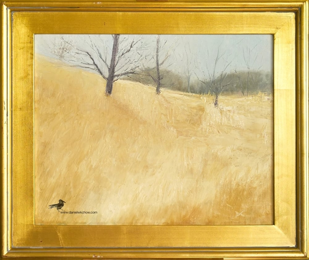 To Hawk Lookout Hill (Ashland Nature Centre, Delaware). Oil on linen, 16 by 20 inches. $1,600.