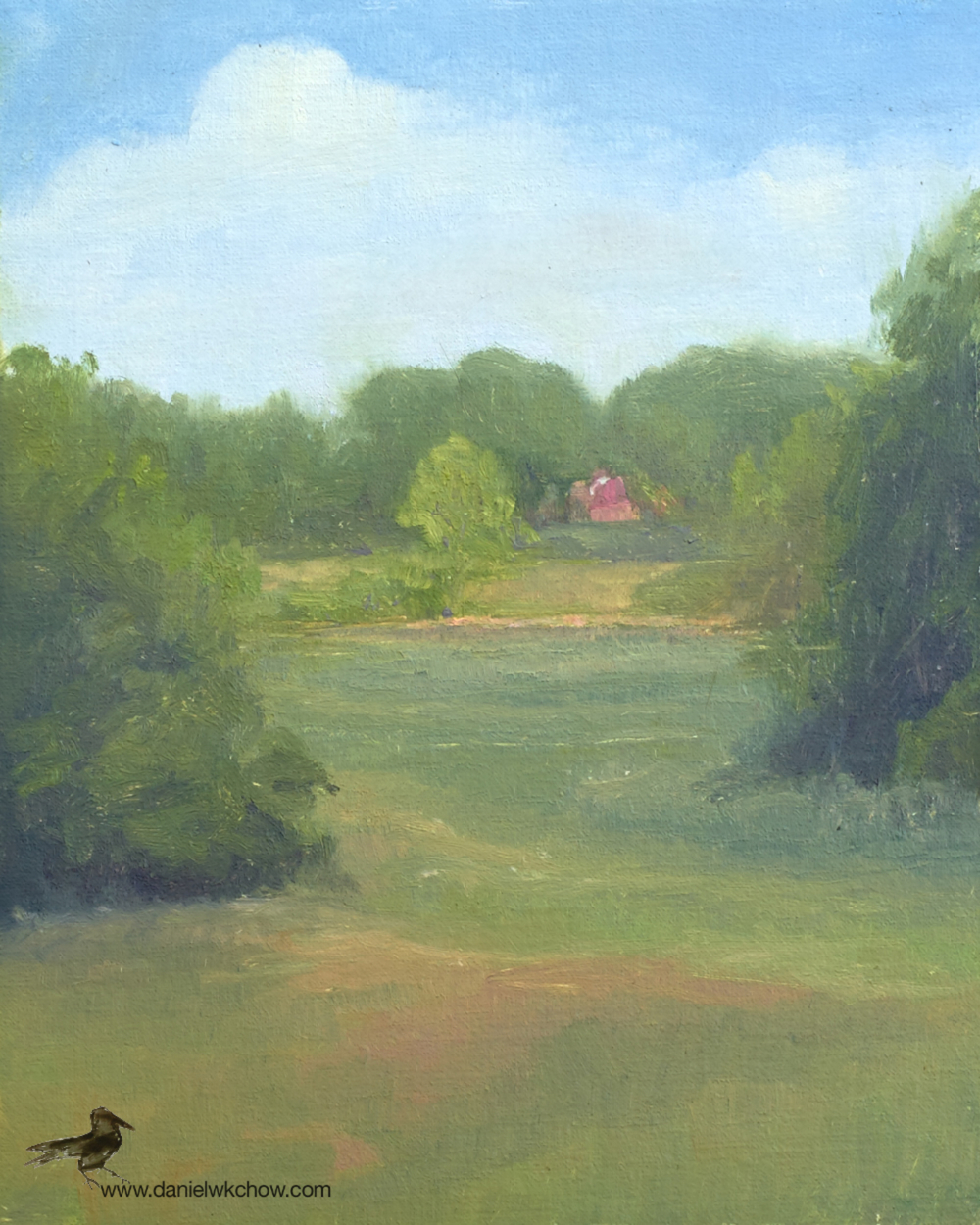 The Red House. Red Clay Creek, Kennett Square. Oil on linen over panel. Artist Collection.