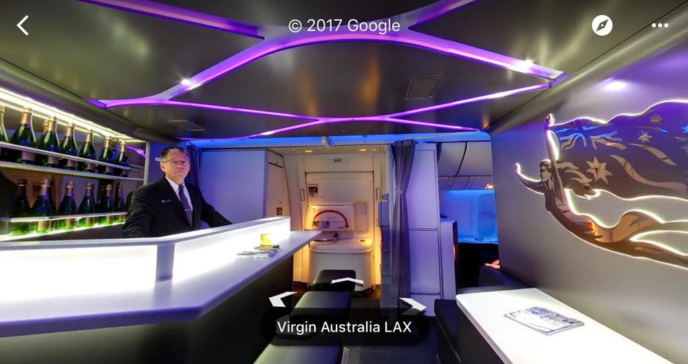 Virgin Australia Cabin on Google Maps
