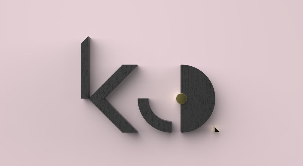 KCD logo-TOP - pink acrylic & brushed brass.396.jpg