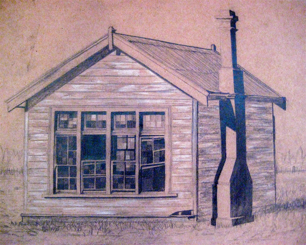Derelict Study, 2006, Pencil on Paper,  UNAVAILABLE