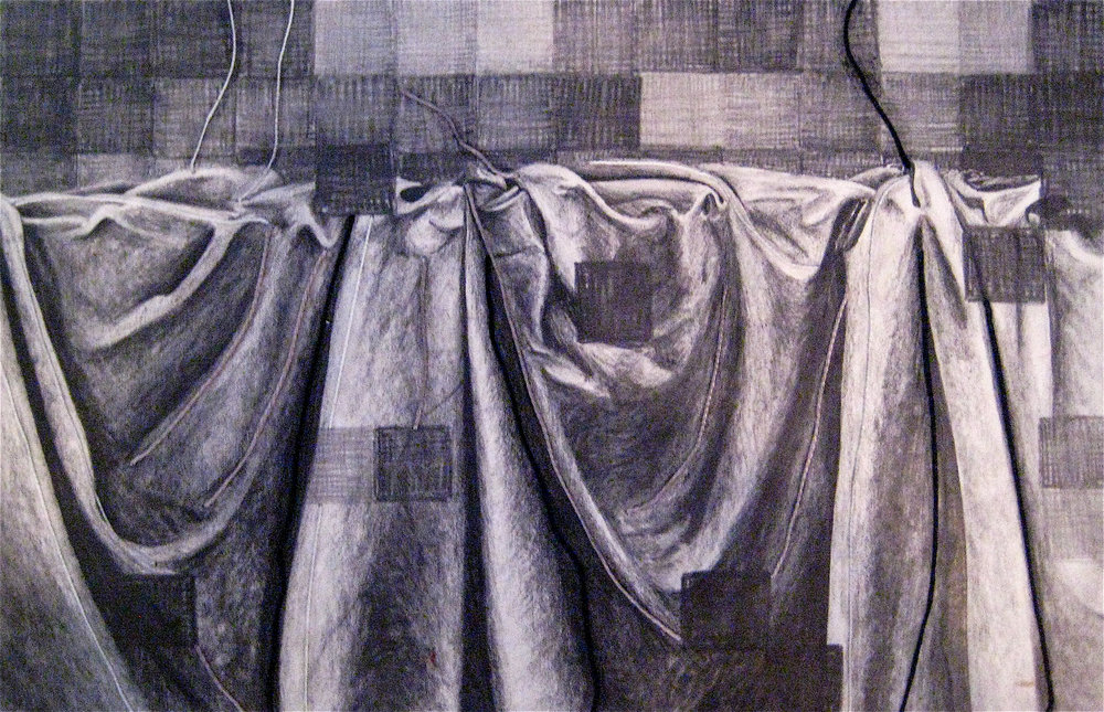 Fabric Study, 2006, Pencil & Cotton on Paper,  UNAVAILABLE