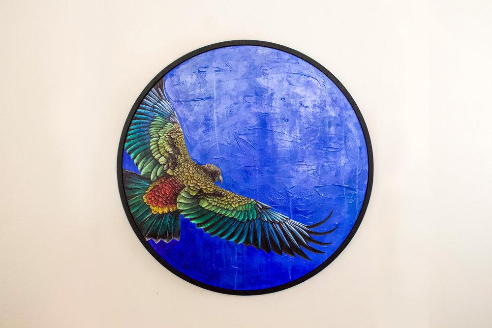 Flight of the Kea_Painting