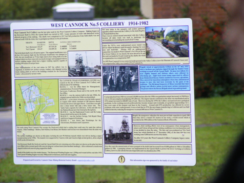 Click on the picture for information about West Cannock No.5 Colliery and the disaster that occurred there on 16 May 1933