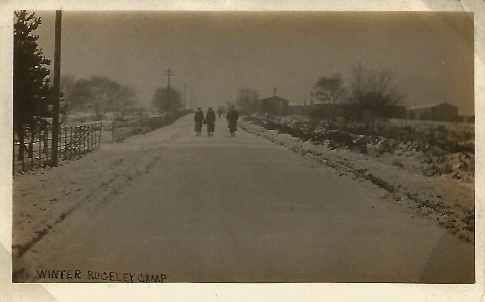 Winter Scene Rugeley Camp