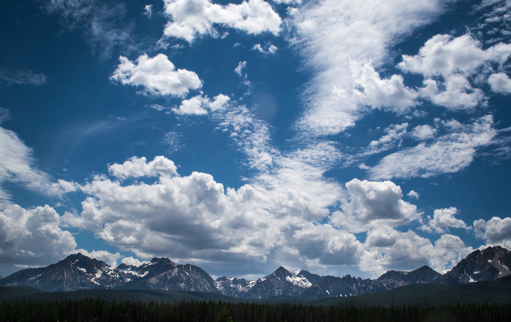 A big blue sky in the Sawtooth Mountains, Idaho