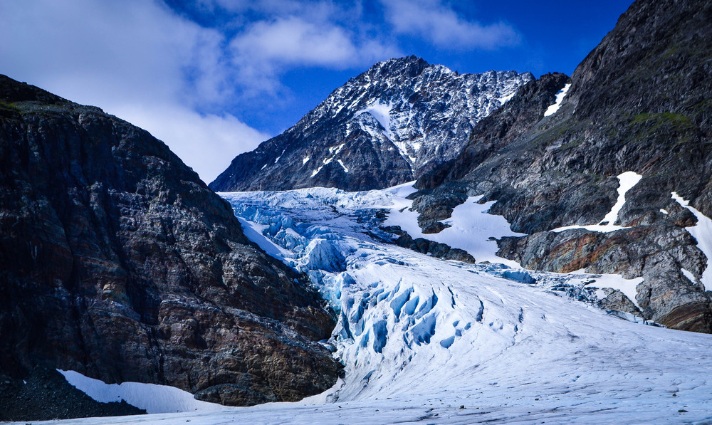 The Steindalsbreen glacier