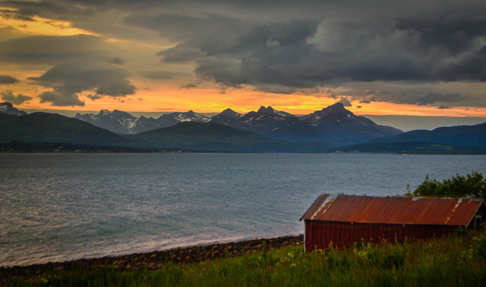 Sunset over the Lyngen Peninsula