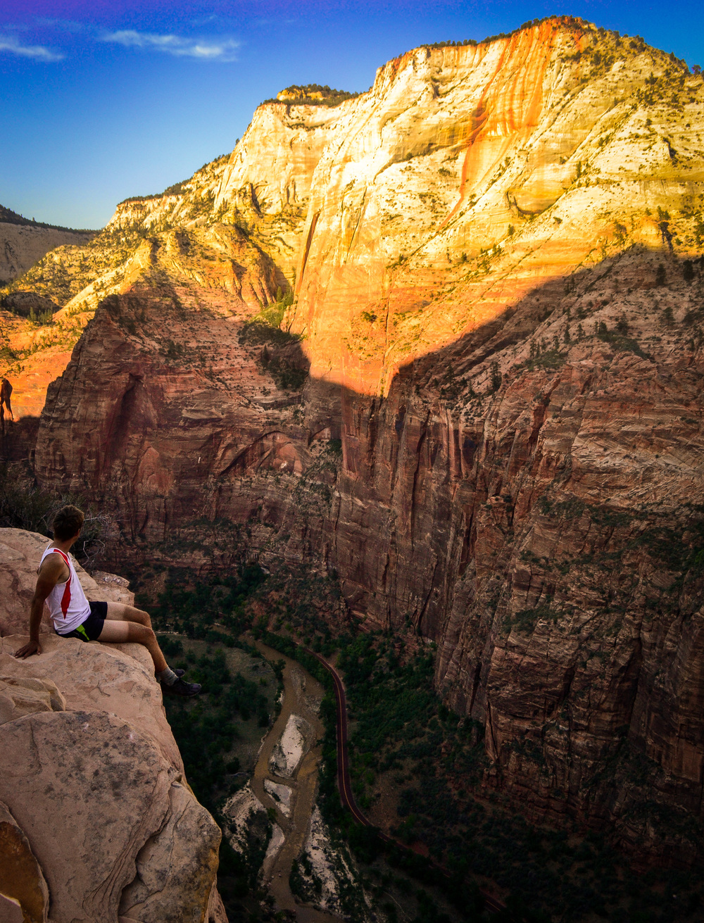 Overlooking the mighty Zion Canyon in Utah