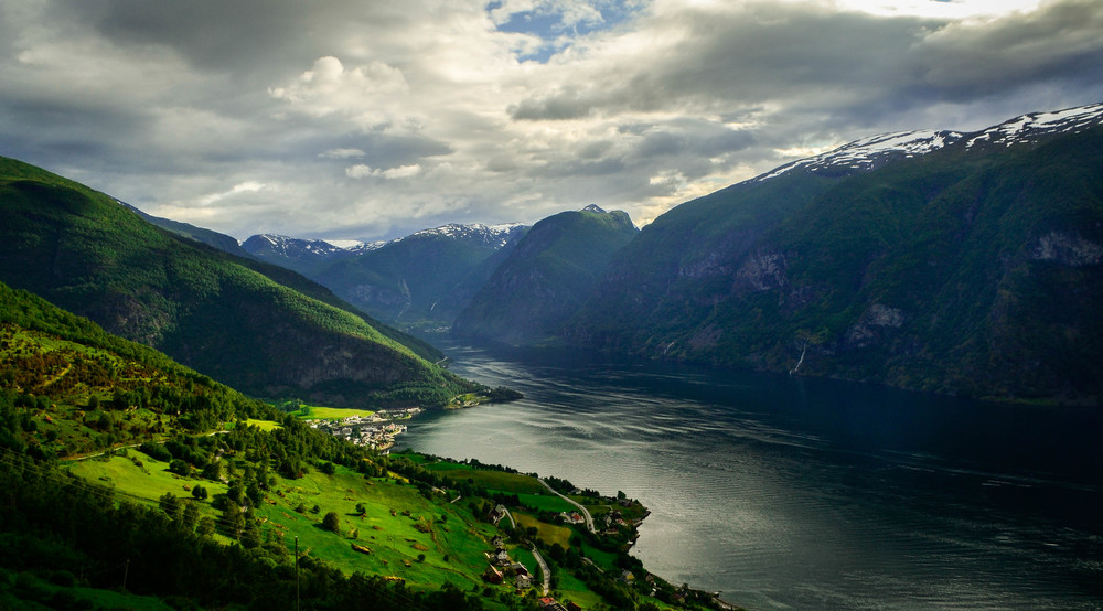 The picturesque fjord at Flam, Norway