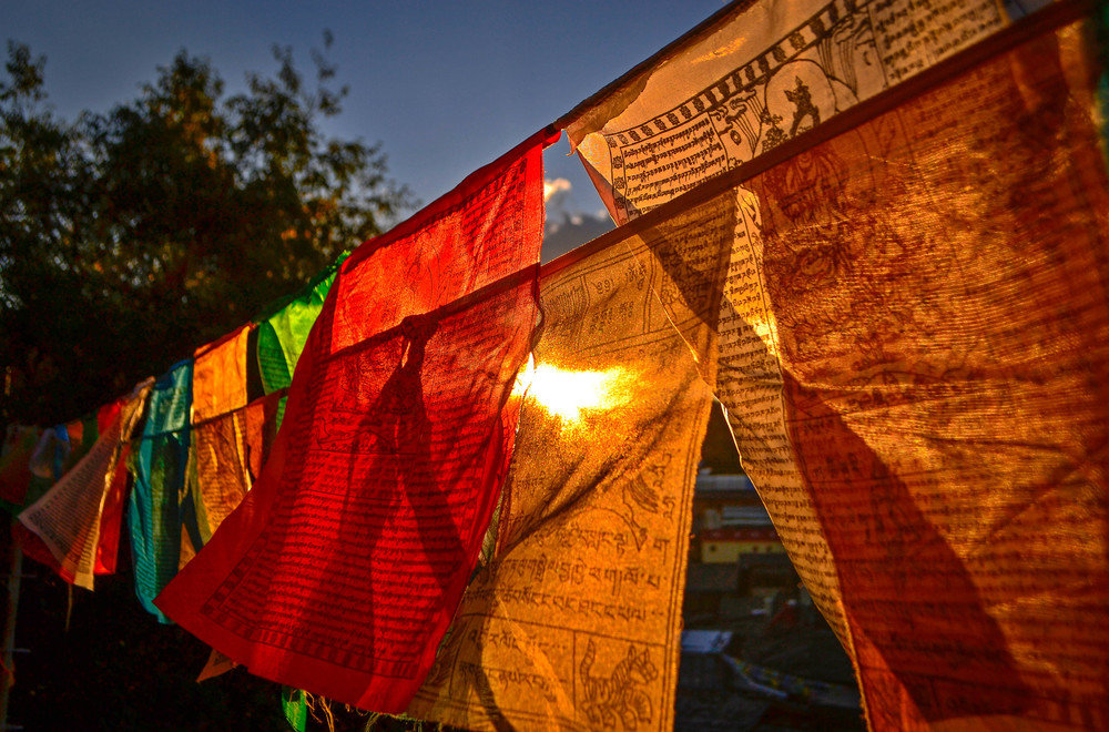 Prayer flags in Shangri-La, China