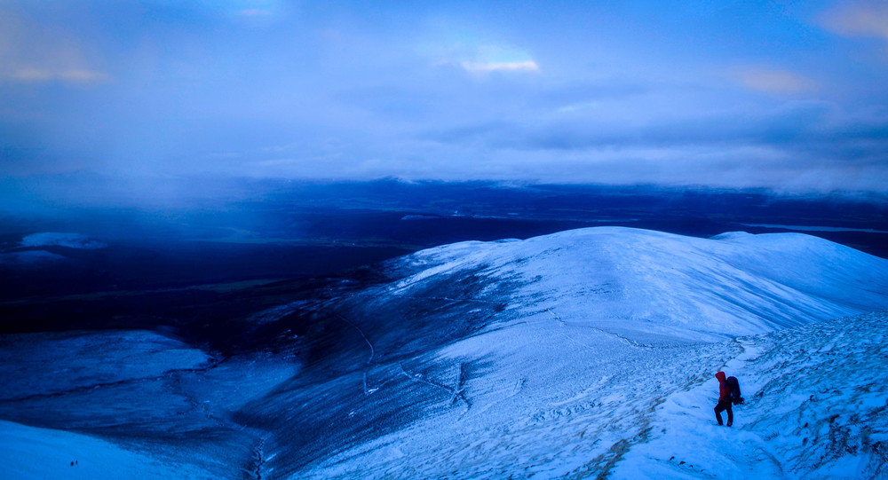Blue afternoon light in the Cairngorms