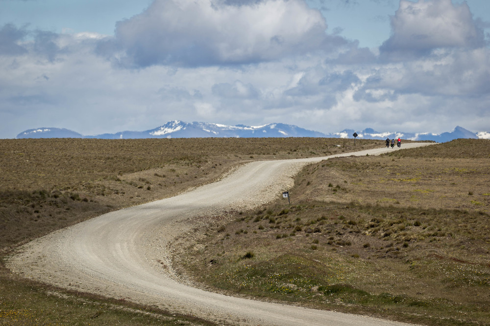 cycling into the windy distance in southern Tierra del Fuego (photo: James hamer)