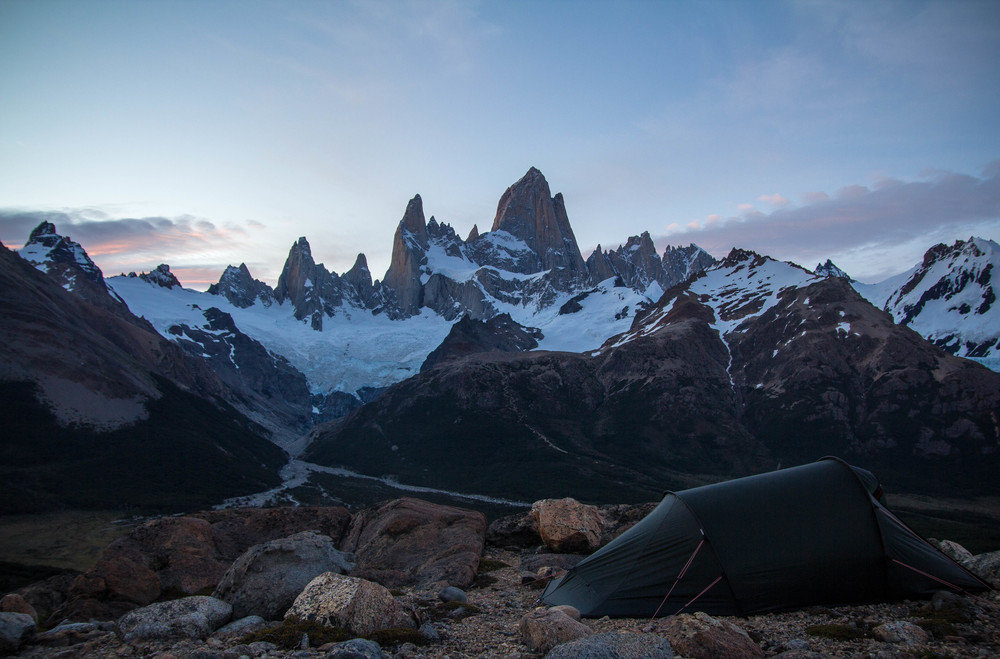 Camping in front of Mt. Fitzroy