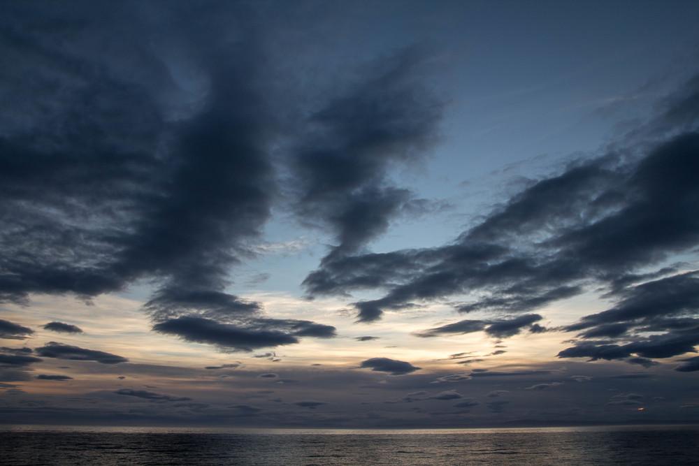 Sunset on the Magellan Straits