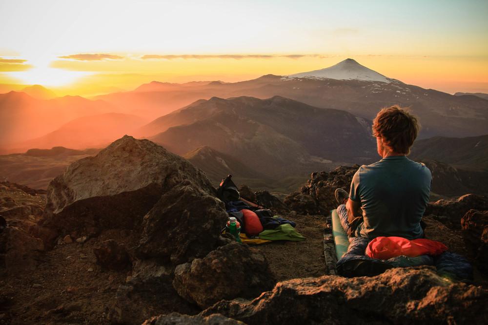 Bivvying atop volcan Quetrapillan