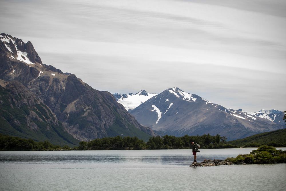 Trekking through Los Glaciares national Park, Argentina