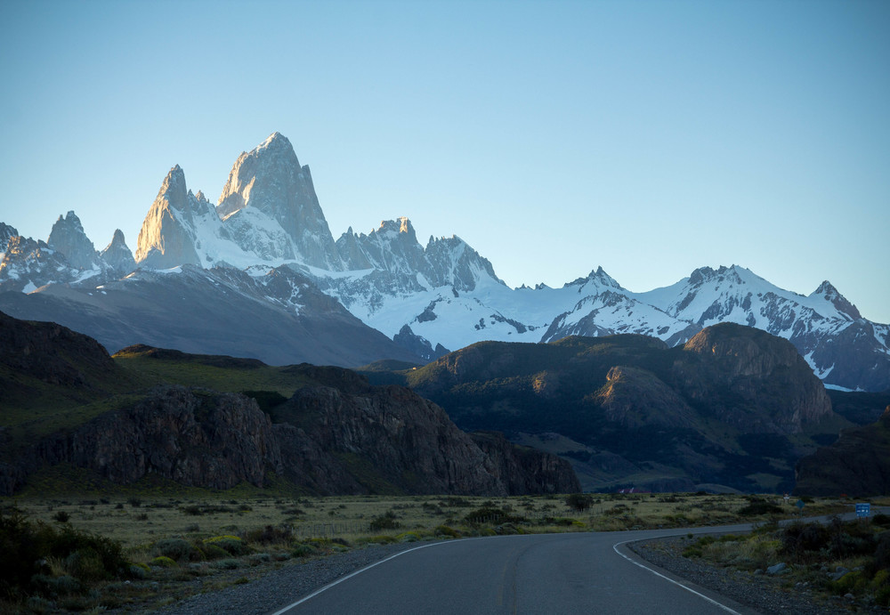 Sunset on New Year's Eve at El Chalten