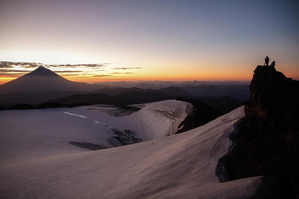 Sunrise over Volcan lanin