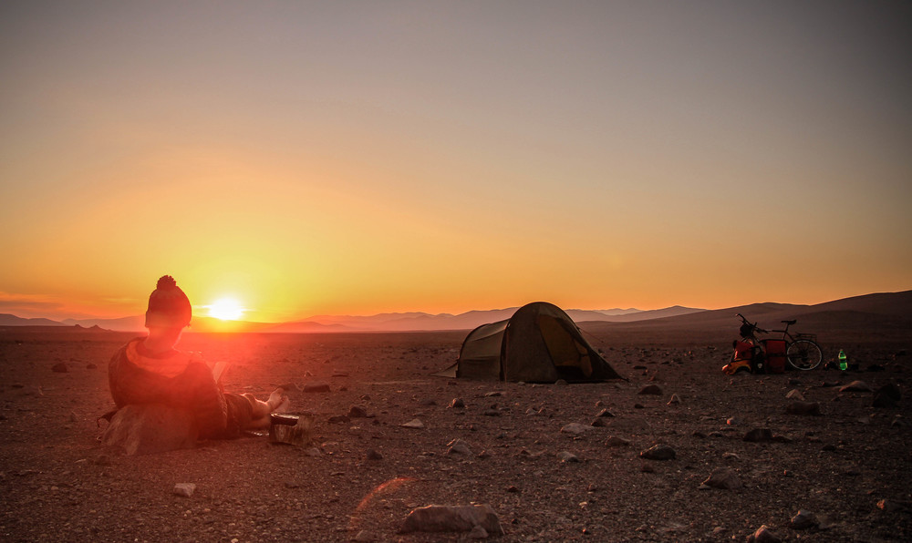 Catching the sunset in the Atacama