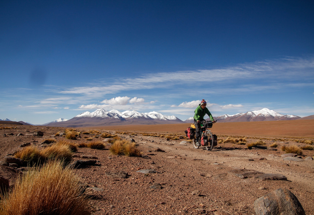 Riding high in the bolivian Andes