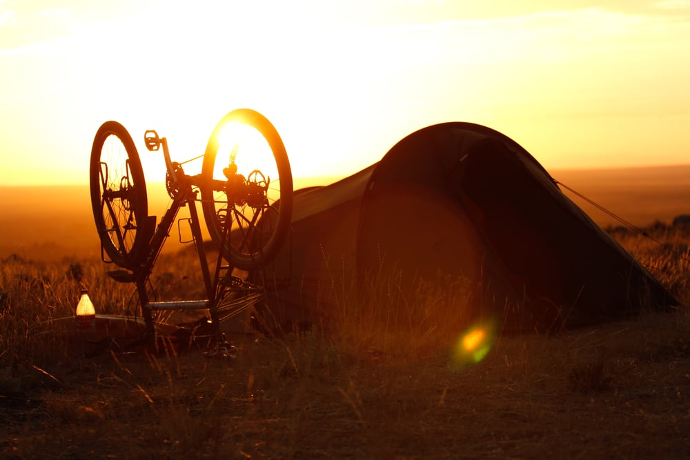 Tent & Bike Sunset.jpg