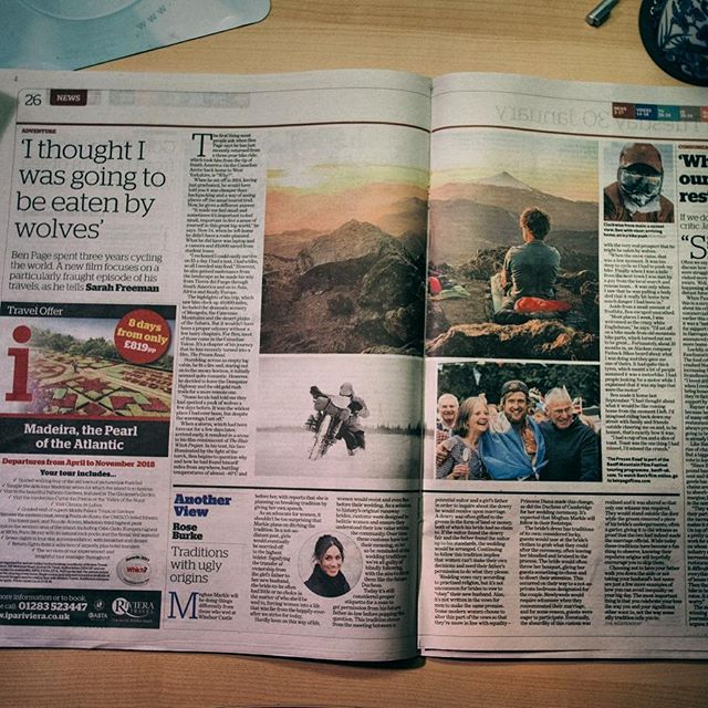 If anybody fancies a little read on their commute home this evening then there is an interview I did with @theipaper on Pg 26 today. In it I talk about my ride around the world and about The Frozen Road, which is available to watch online RIGHT NOW (link in bio)👍👍 . . . #bikepacking #travel #london #commute #stories #adventure #explore #cycling #aroundthworld #travelphotography #film