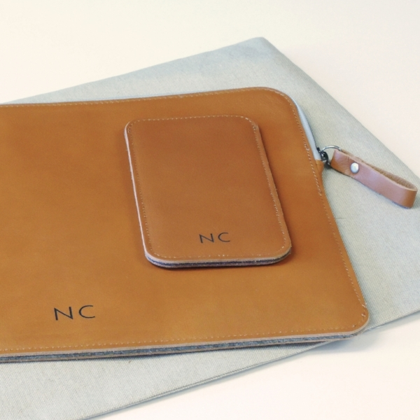 Personalised engraving of leather cases