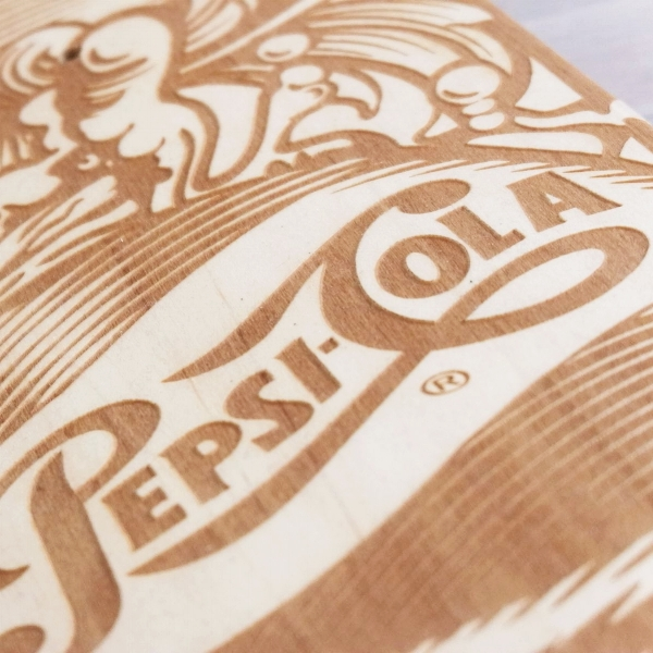 Laser engraved skateboard - corporate gift