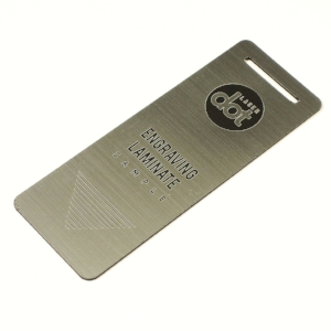 0.75 silver laminate - laser cut - laser engraved - Dot Laser sample.JPG