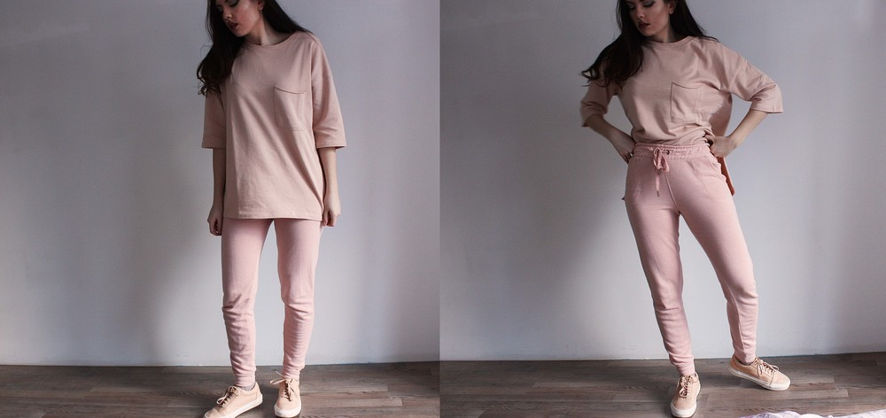 Two totally different pieces combined, but in the same color± a perfect minimalistic combo!