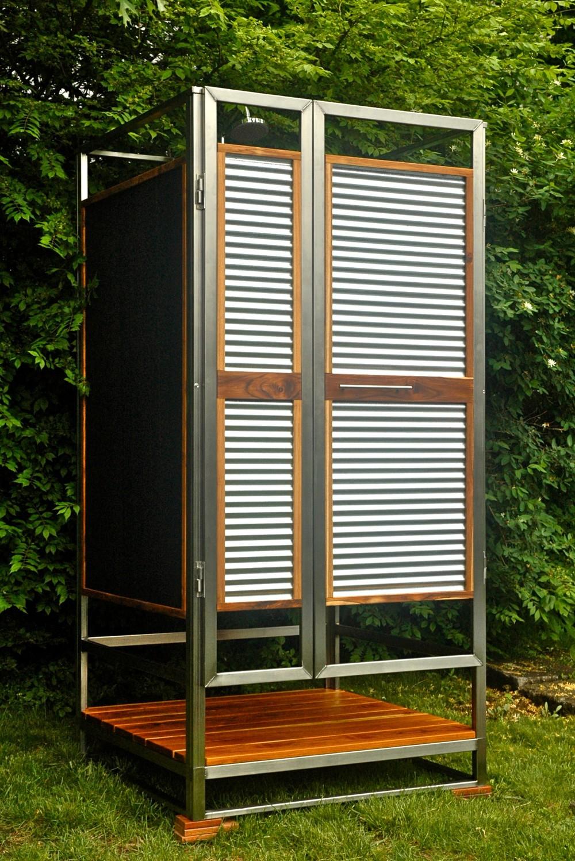 Modern outdoor shower